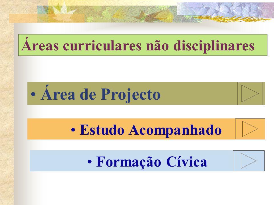 Área de Projecto Áreas curriculares não disciplinares