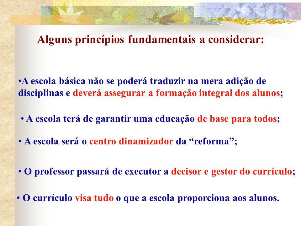 Alguns princípios fundamentais a considerar:
