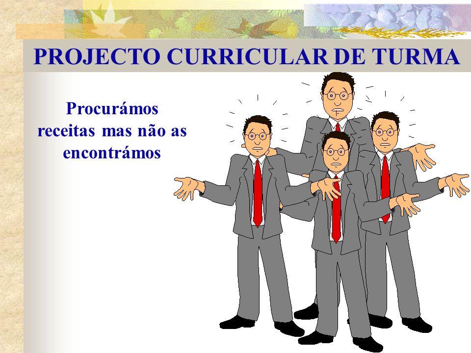 PROJECTO CURRICULAR DE TURMA