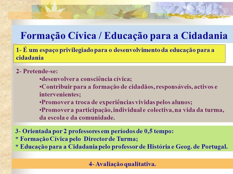 Formação Cívica / Educação para a Cidadania 4- Avaliação qualitativa.