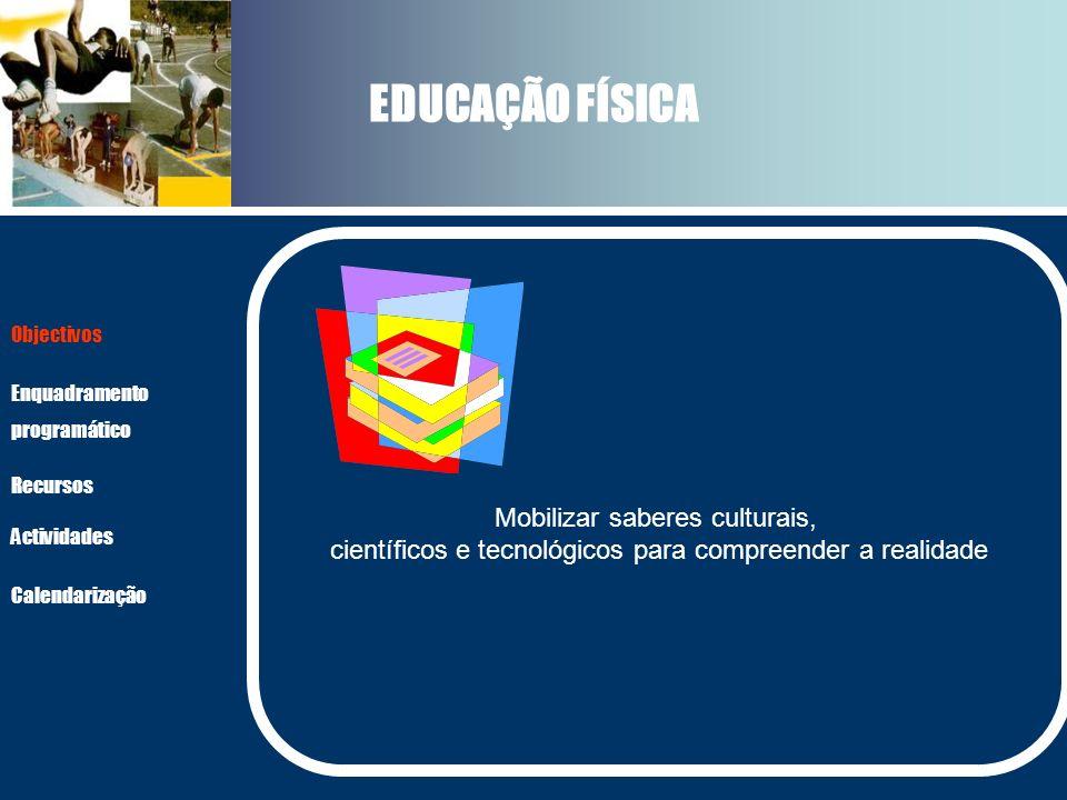 EDUCAÇÃO FÍSICA Mobilizar saberes culturais,