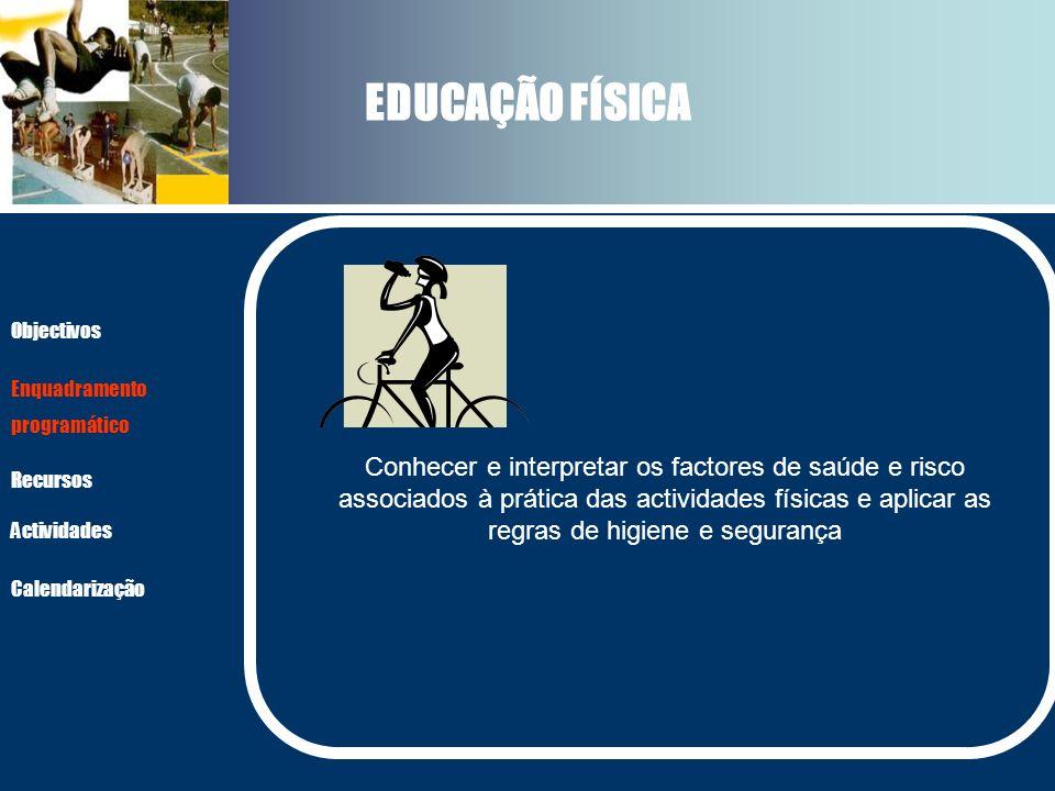 EDUCAÇÃO FÍSICA Objectivos. Enquadramento. programático.