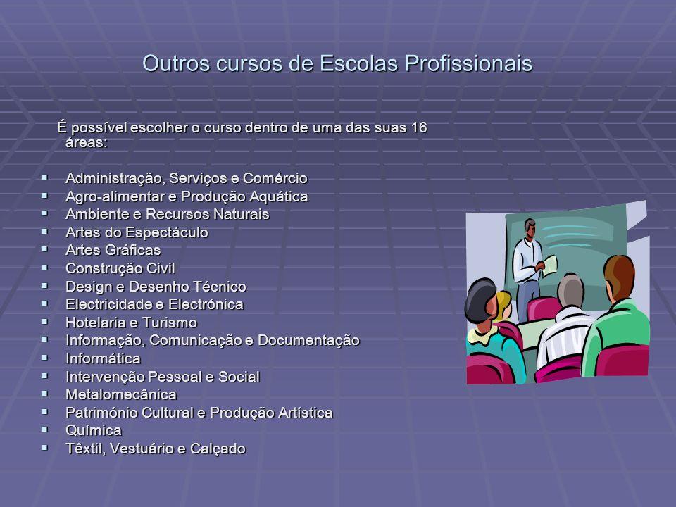Outros cursos de Escolas Profissionais