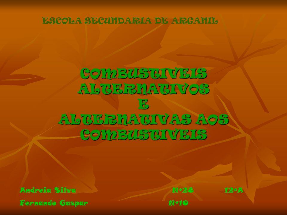COMBUSTIVEIS ALTERNATIVOS E ALTERNATIVAS AOS COMBUSTIVEIS