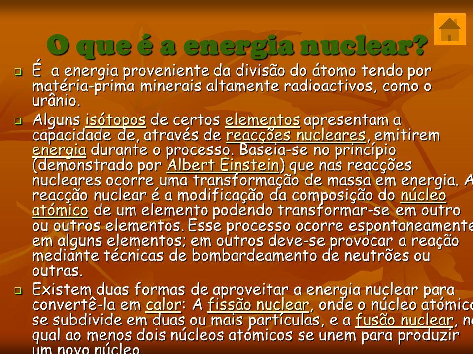 O que é a energia nuclear