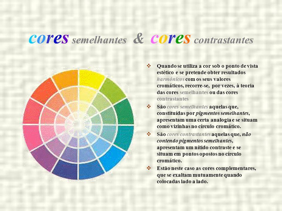 cores semelhantes & cores contrastantes