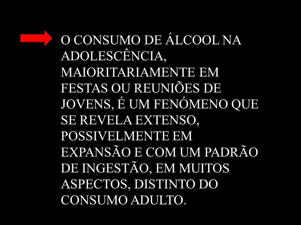 O CONSUMO DE ÁLCOOL NA. ADOLESCÊNCIA,. MAIORITARIAMENTE EM