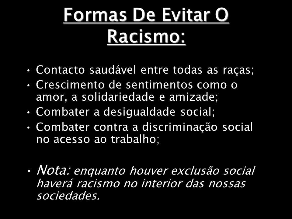 Formas De Evitar O Racismo: