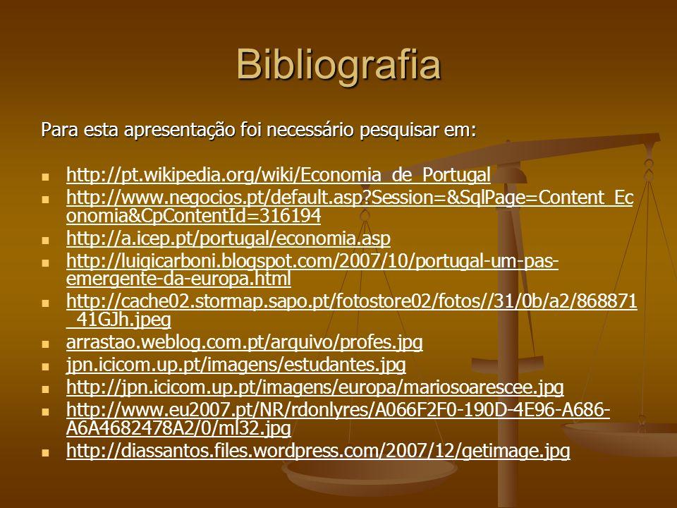 Bibliografia Para esta apresentação foi necessário pesquisar em: