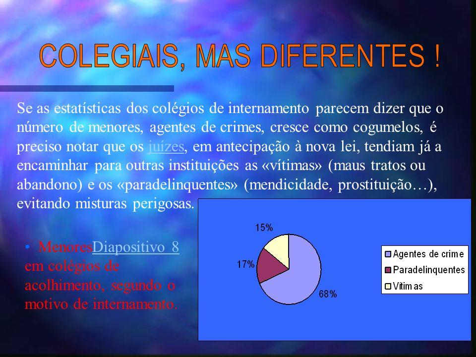COLEGIAIS, MAS DIFERENTES !