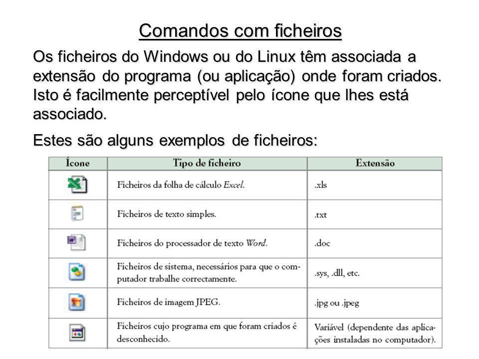 Comandos com ficheiros