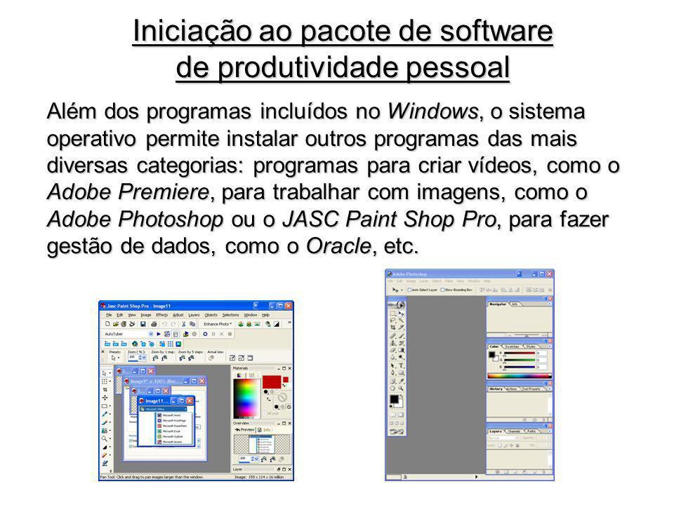 Iniciação ao pacote de software de produtividade pessoal