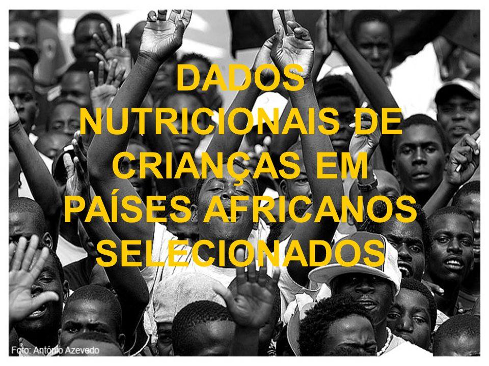 DADOS NUTRICIONAIS DE CRIANÇAS EM PAÍSES AFRICANOS SELECIONADOS