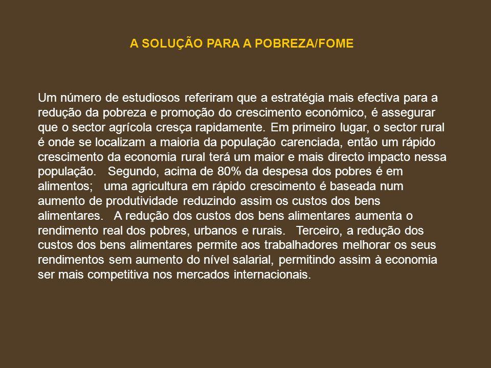 A SOLUÇÃO PARA A POBREZA/FOME