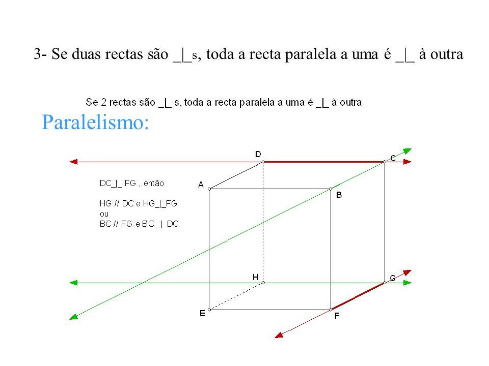 3- Se duas rectas são _|_s, toda a recta paralela a uma é _|_ à outra