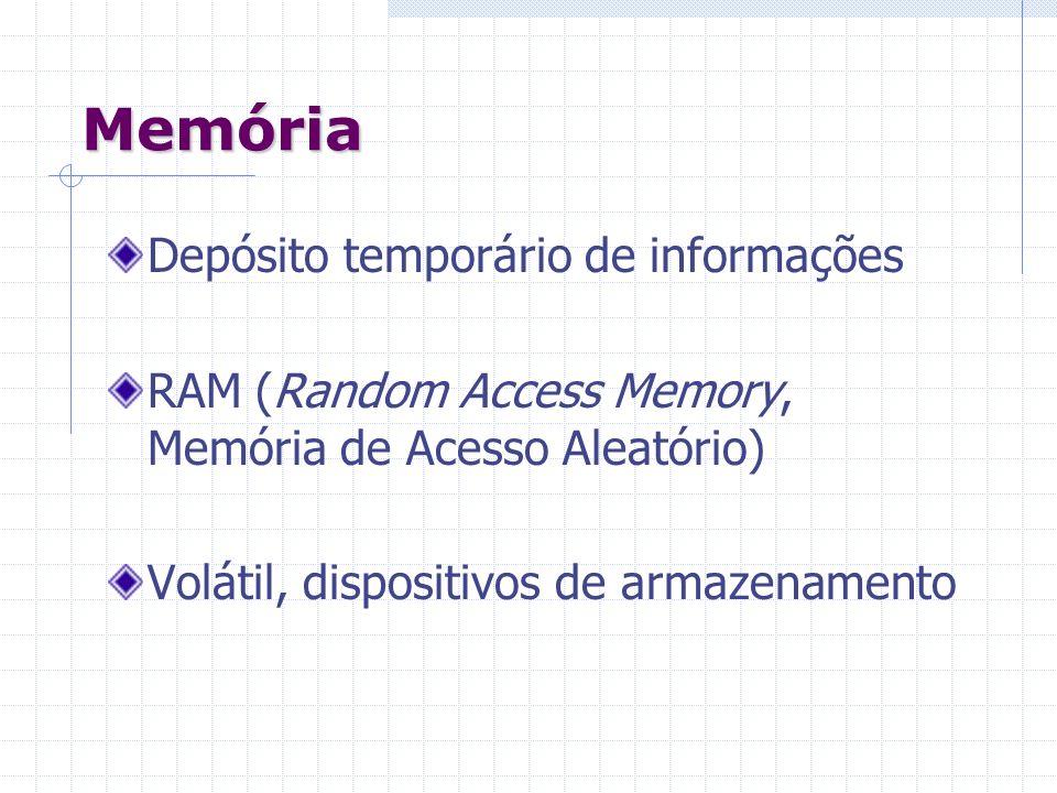 Memória Depósito temporário de informações