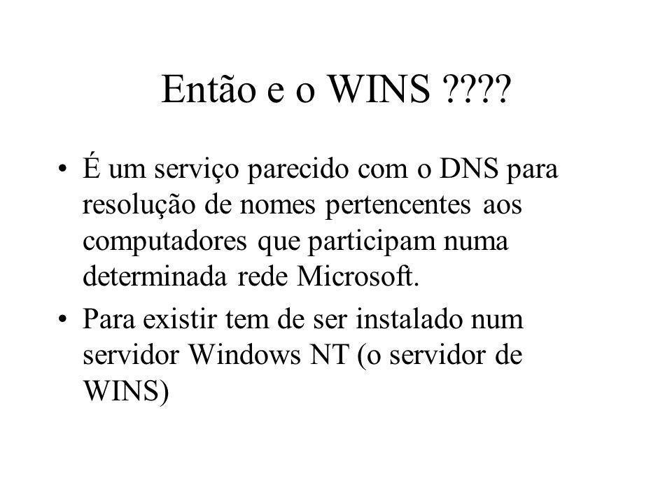 Então e o WINS