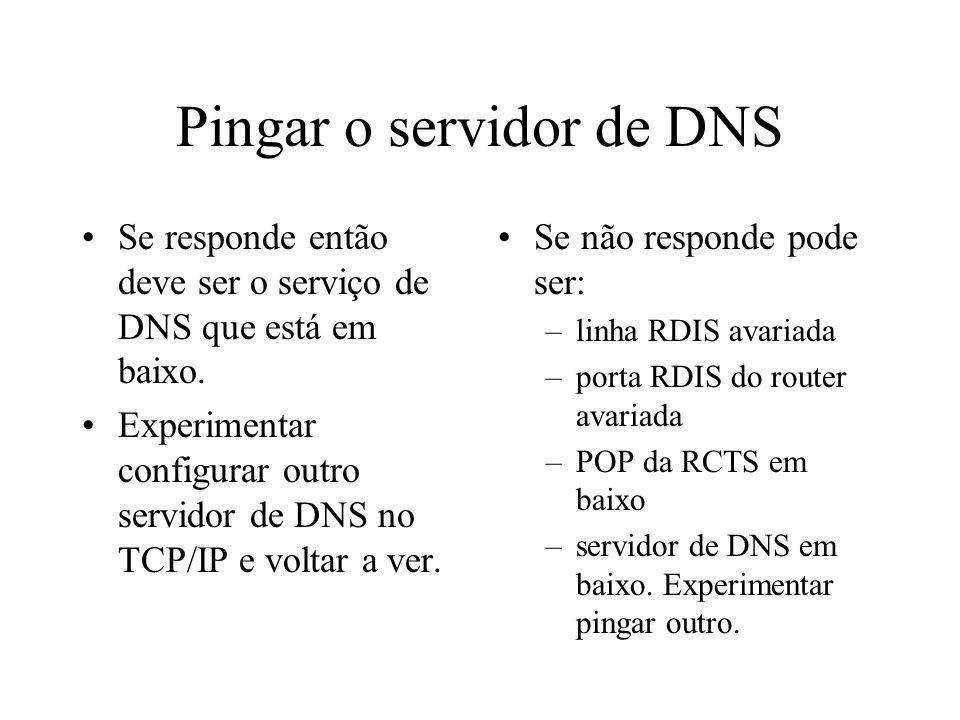 Pingar o servidor de DNS