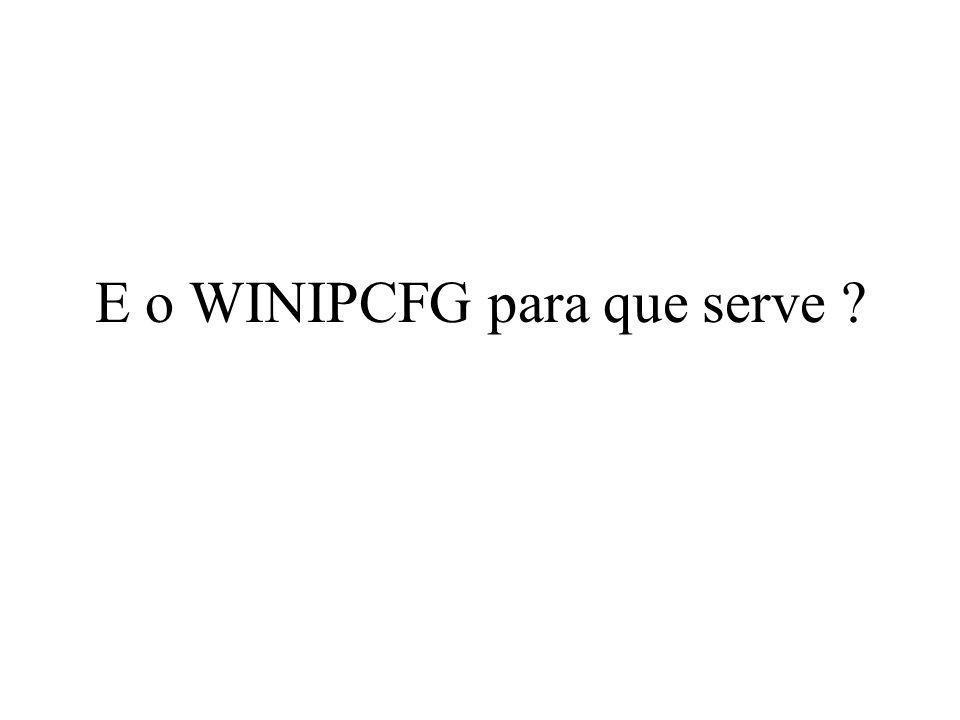 E o WINIPCFG para que serve