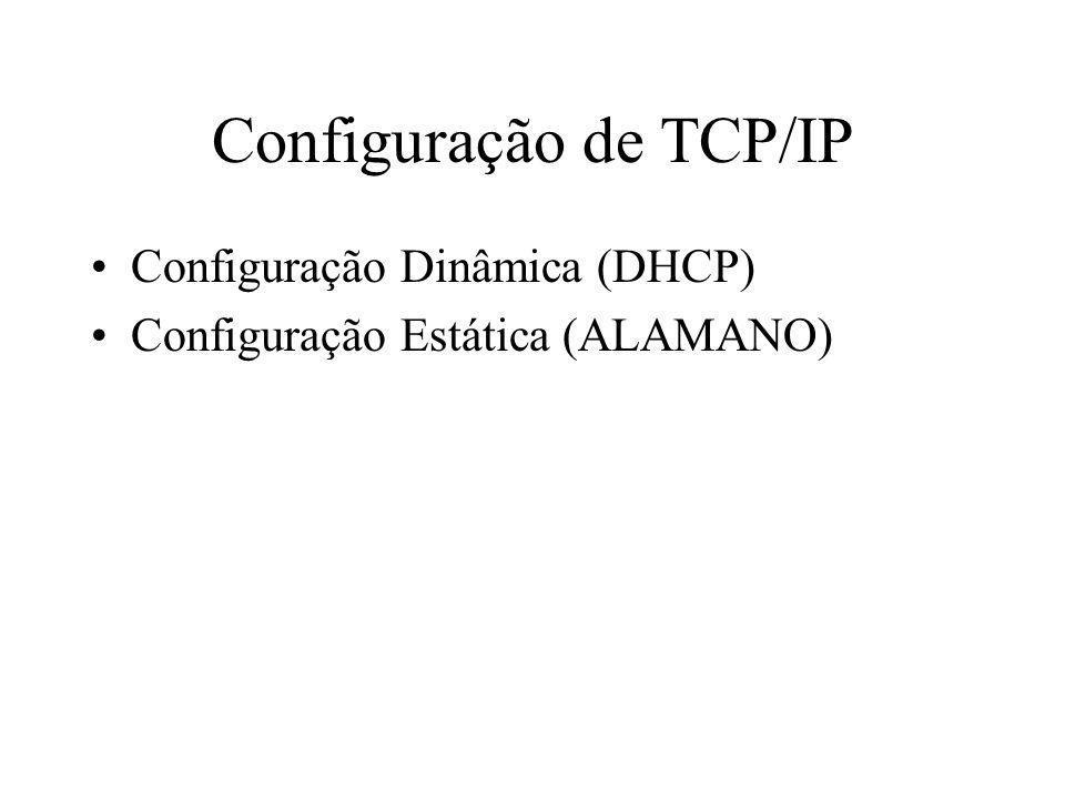Configuração de TCP/IP