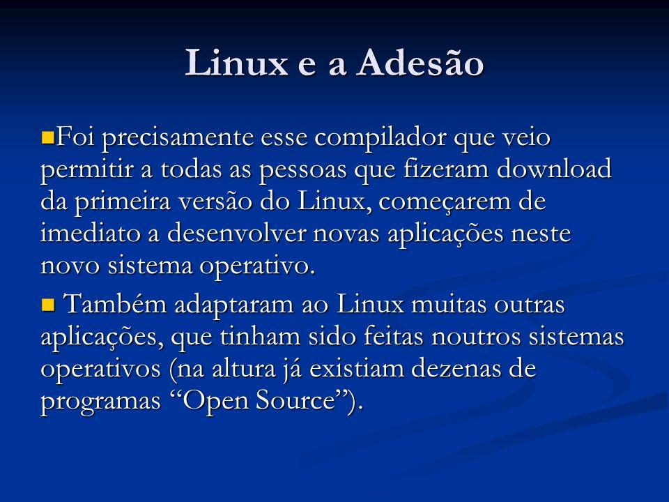 Linux e a Adesão