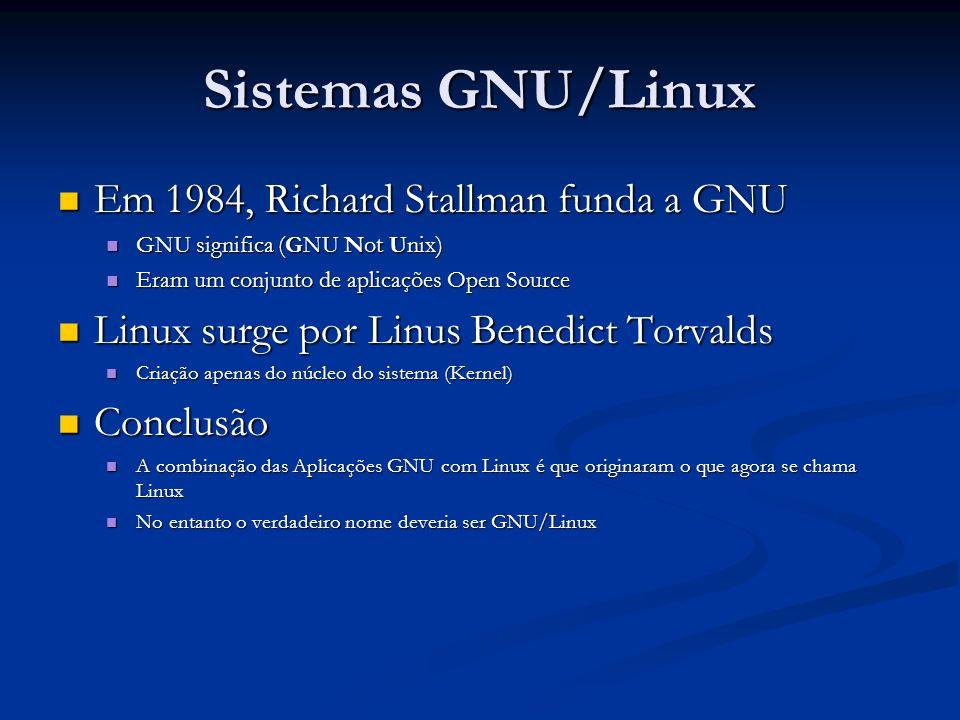 Sistemas GNU/Linux Em 1984, Richard Stallman funda a GNU