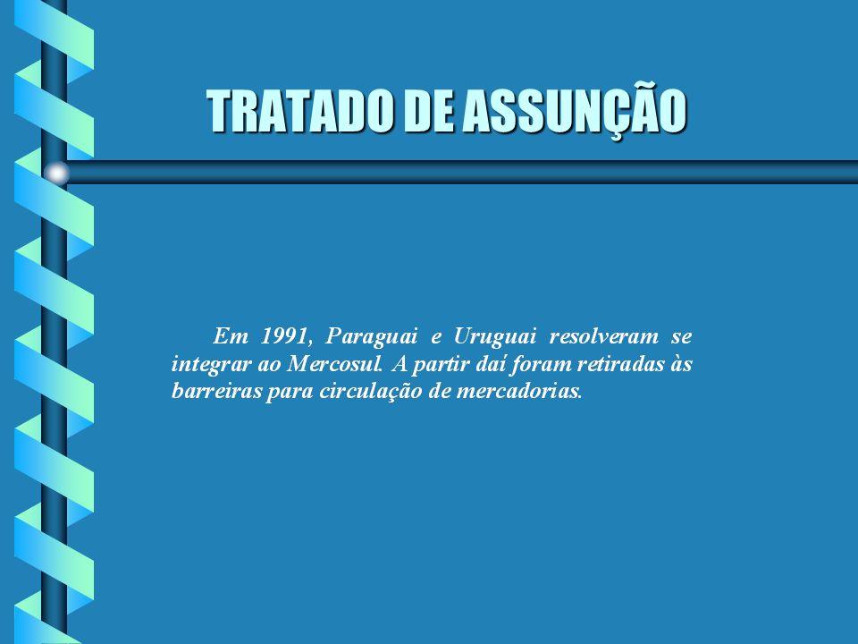 TRATADO DE ASSUNÇÃO