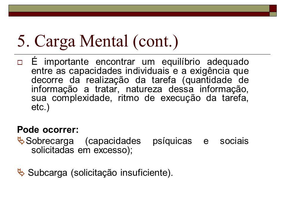 5. Carga Mental (cont.)