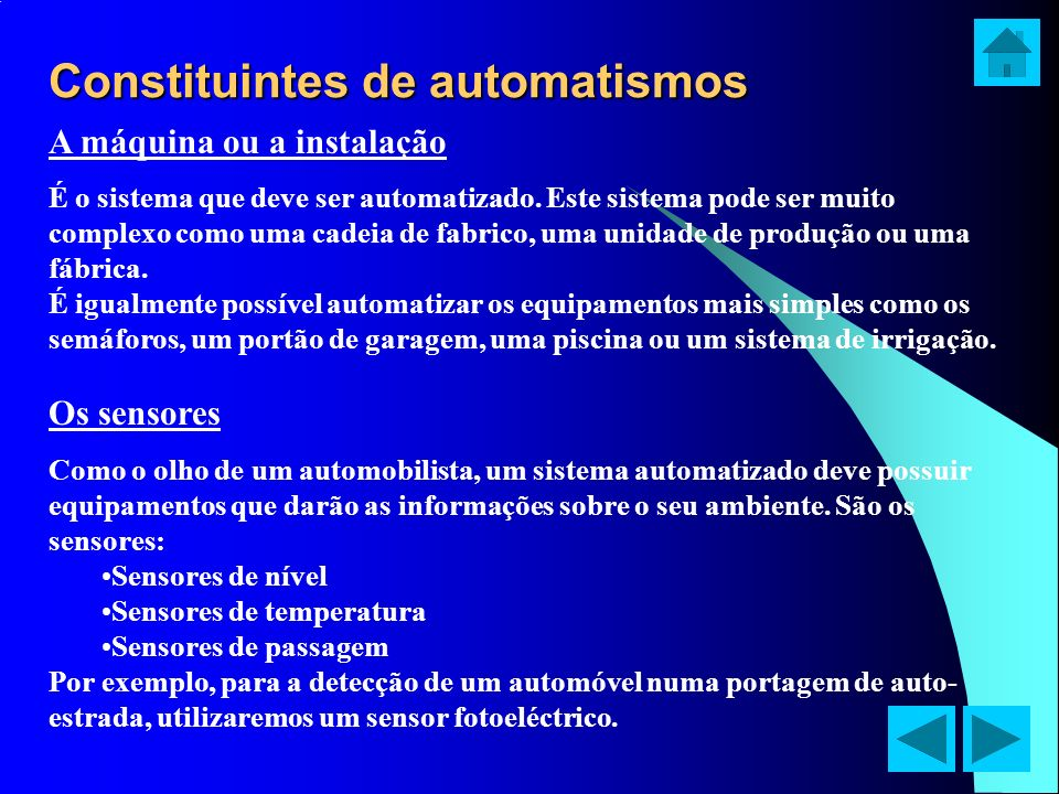 Constituintes de automatismos