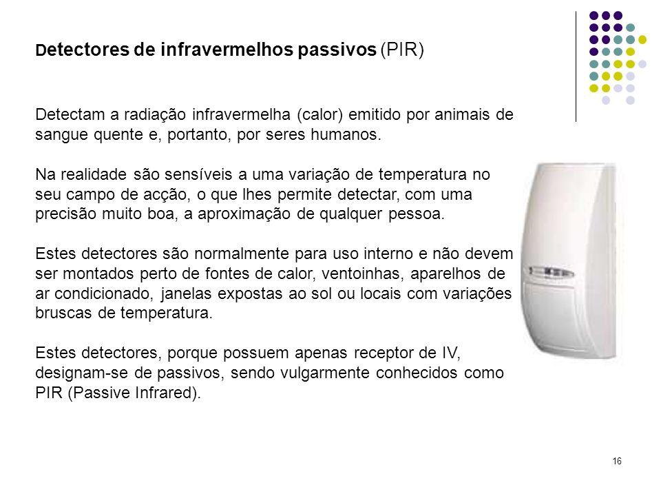 Detectores de infravermelhos passivos (PIR)