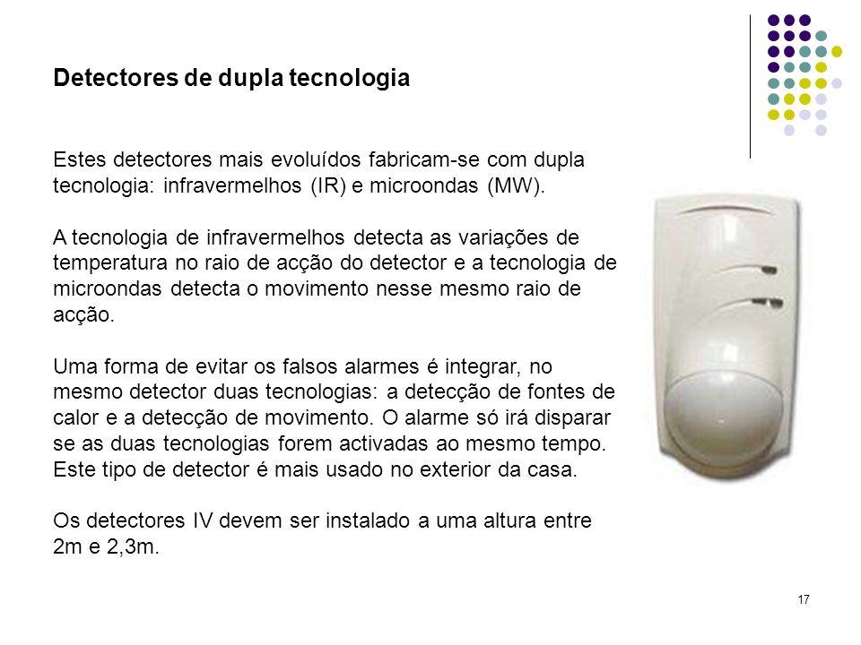 Detectores de dupla tecnologia