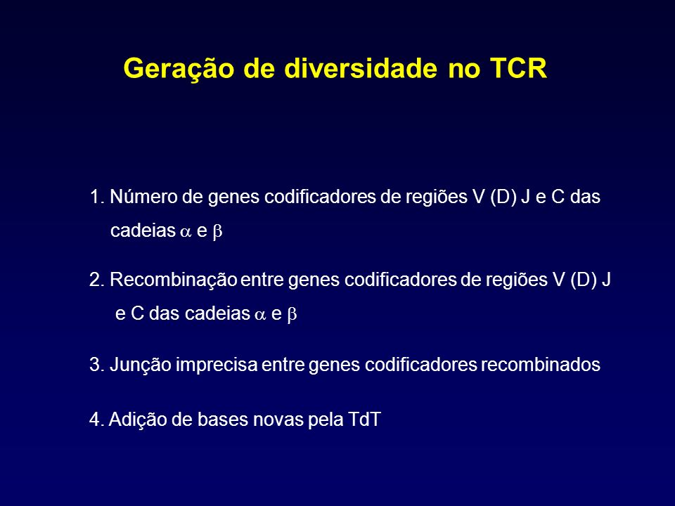 Geração de diversidade no TCR