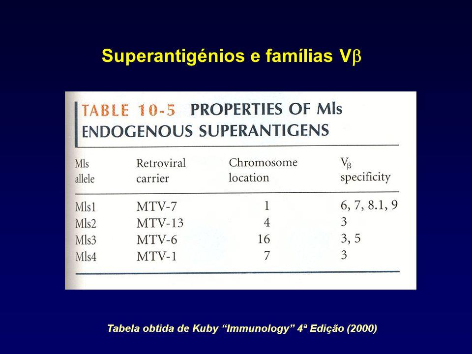 Superantigénios e famílias Vb