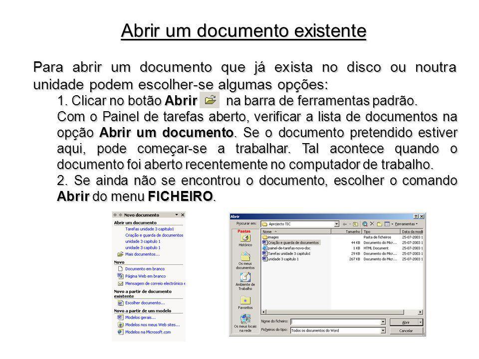 Abrir um documento existente