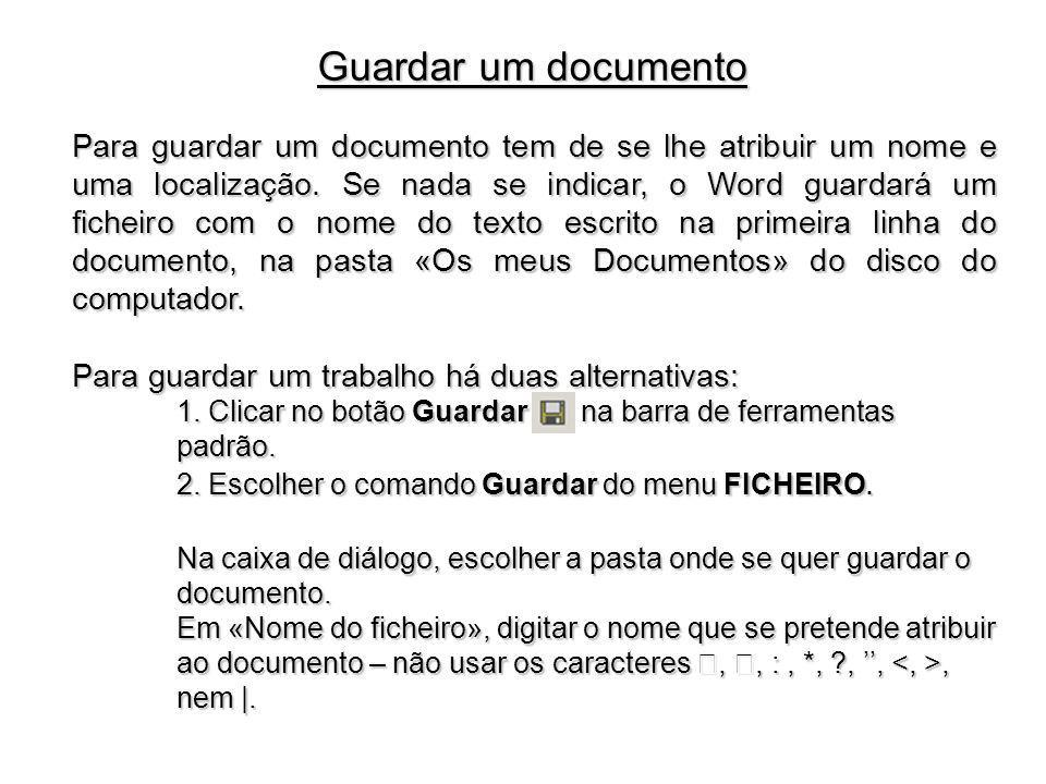 Guardar um documento