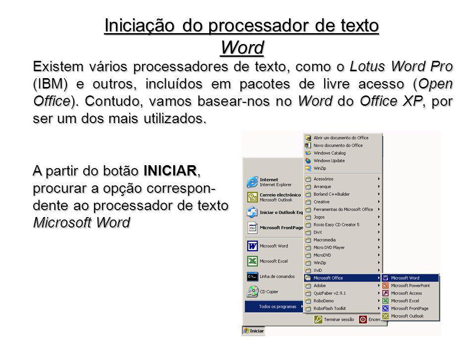 Iniciação do processador de texto Word