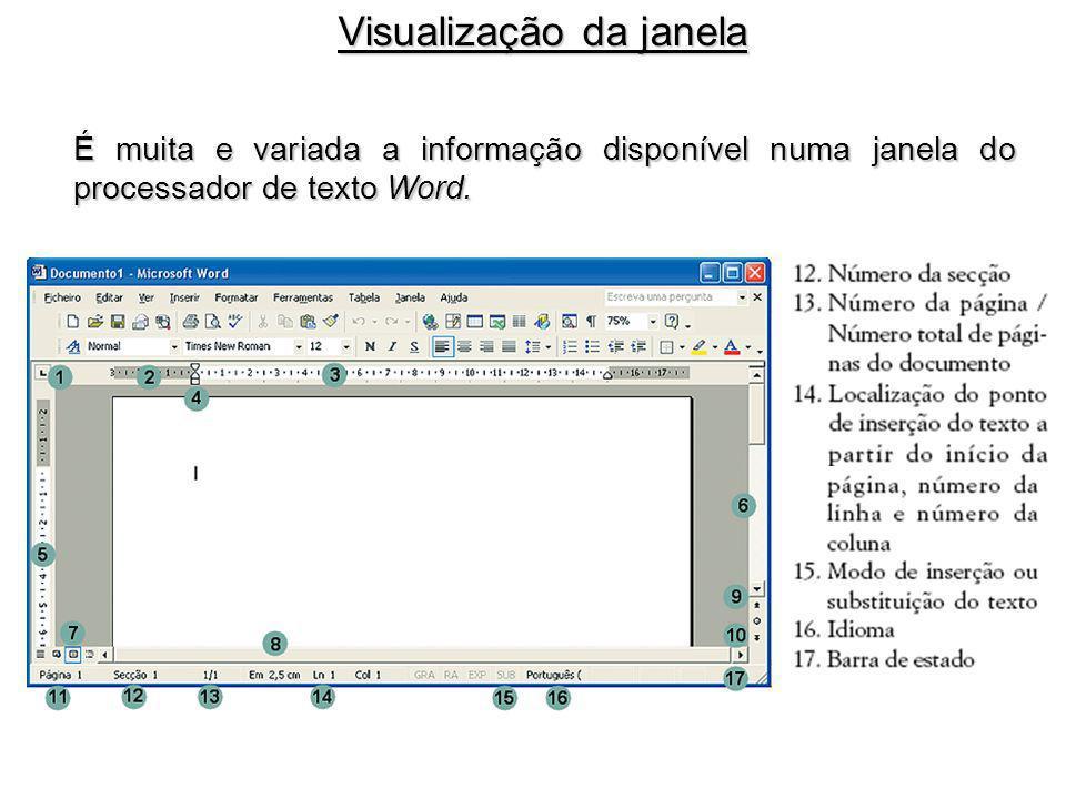 Visualização da janela