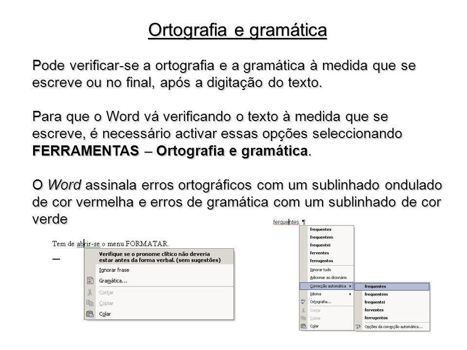 Ortografia e gramática