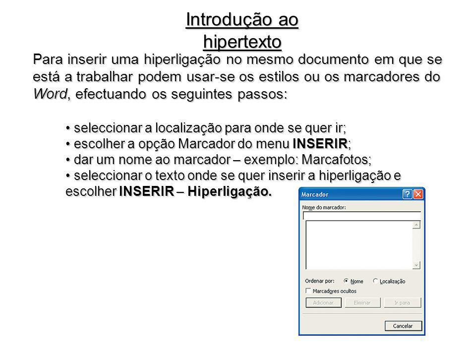 Introdução ao hipertexto