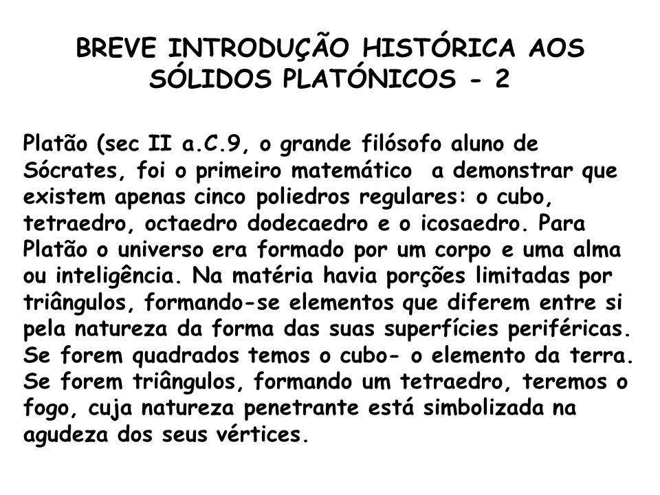 BREVE INTRODUÇÃO HISTÓRICA AOS SÓLIDOS PLATÓNICOS - 2