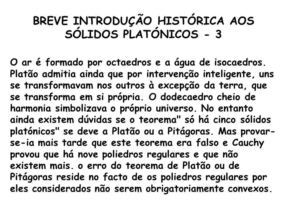 BREVE INTRODUÇÃO HISTÓRICA AOS SÓLIDOS PLATÓNICOS - 3
