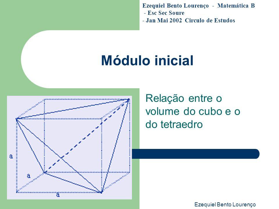 Relação entre o volume do cubo e o do tetraedro