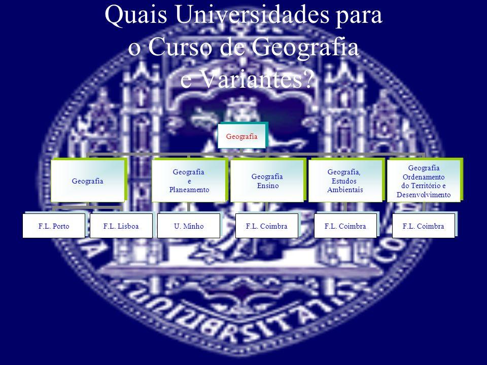 Quais Universidades para o Curso de Geografia e Variantes