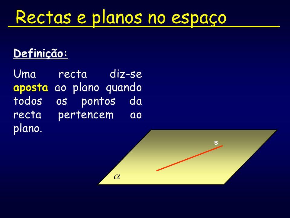 Rectas e planos no espaço