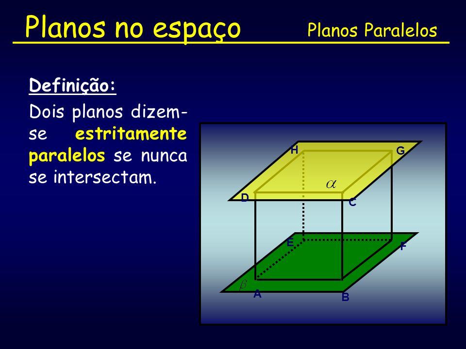 Planos no espaço Planos Paralelos Definição: