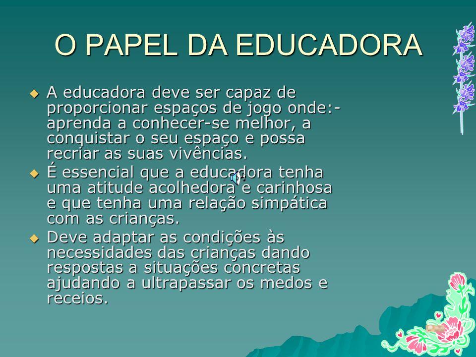 O PAPEL DA EDUCADORA