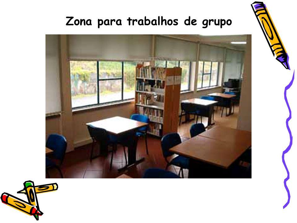 Zona para trabalhos de grupo