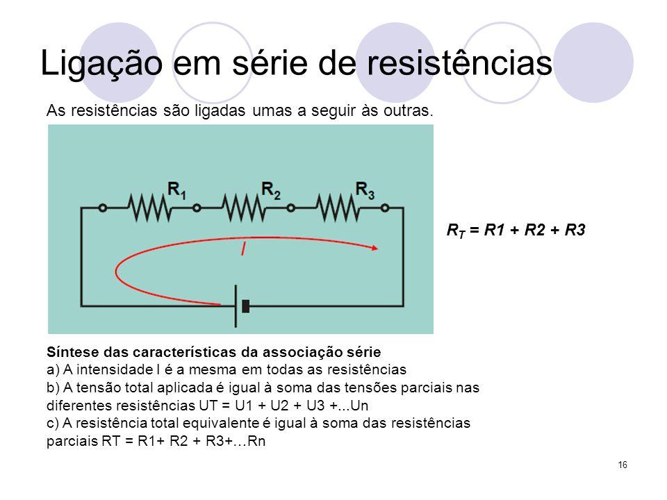 Ligação em série de resistências