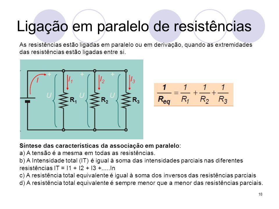 Ligação em paralelo de resistências