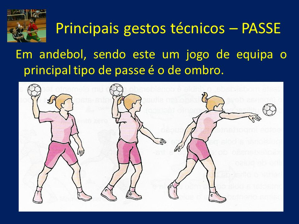 Principais gestos técnicos – PASSE